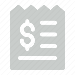 cash register, paper, reciept, shopping, transaction icon icon