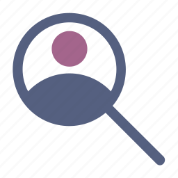 magnifying, man, search, user icon icon