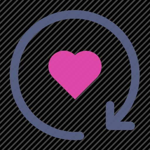 fill, heart, refresh icon icon