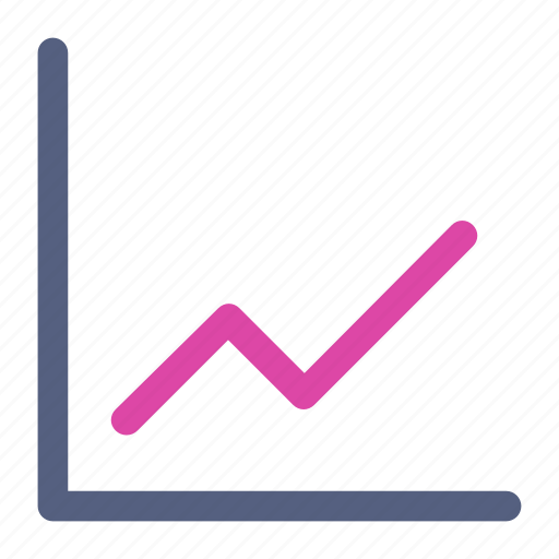 business, chart icon, line chart, up chart icon
