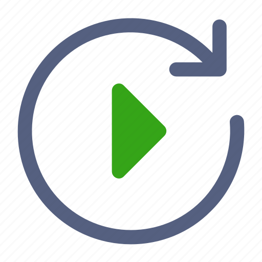 arrow, circle, load, play, right icon icon