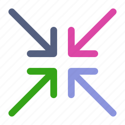 arrow, arrows, compress, compression, direction, navigation, pointer icon icon