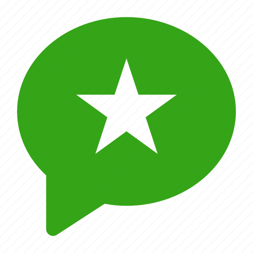 bubble, chat, comment, percent, rate, review, star icon icon