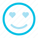 emoji, emotions, love, smile, smiley icon icon
