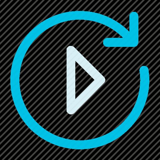 arrow, circle, load, play, right icon icon