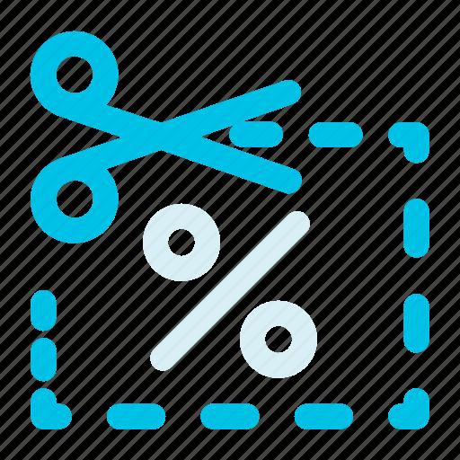 coupon, cut, cutting, discount, percent, percentage, scissors icon icon