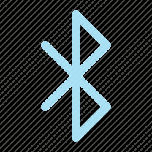 blue, bluetooth icon, tooth icon icon