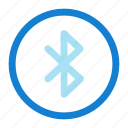 blue, bluetooth icon, tooth icon icon