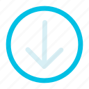 arrow, bottom, interface icon icon