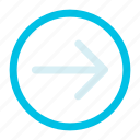 arrow, interface, right icon icon