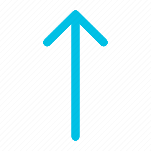 arrow, forward, up icon icon