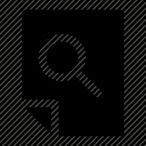 documen, file, paper, search icon icon