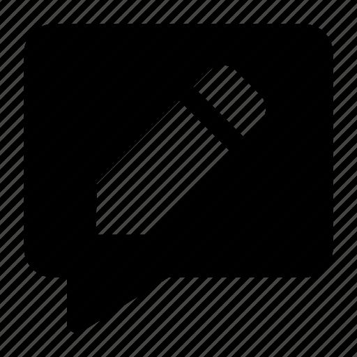 change, comment, edit, massege, pencil icon icon