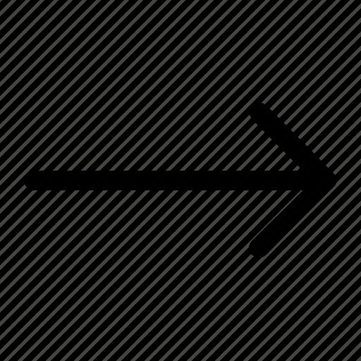 arrow, interface, right icon icon