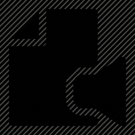 audio file, paper icon