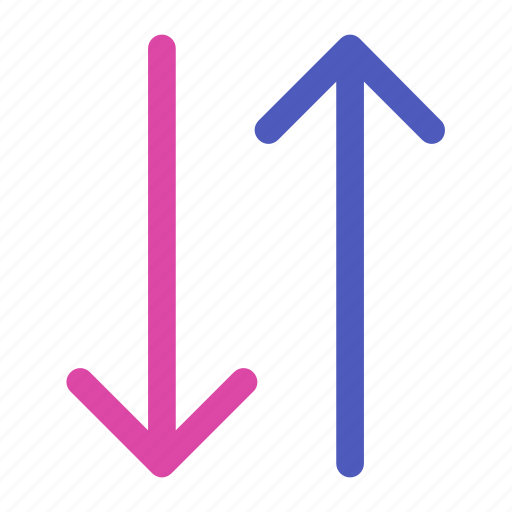 arrow, bottom, direction, down, path, top, up icon icon