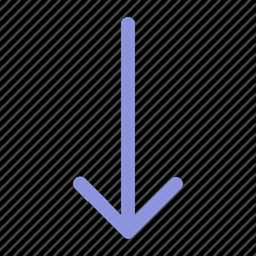 arrow, bottom, interface icon icon