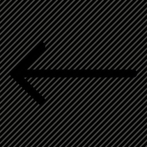 arrow, left, left arrow, sign icon icon