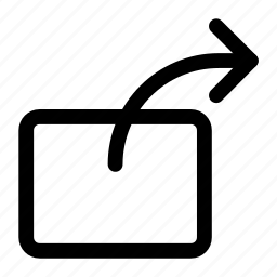 arrow, direction, forward, right, share icon icon