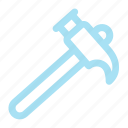 construction, hammer, tool icon icon