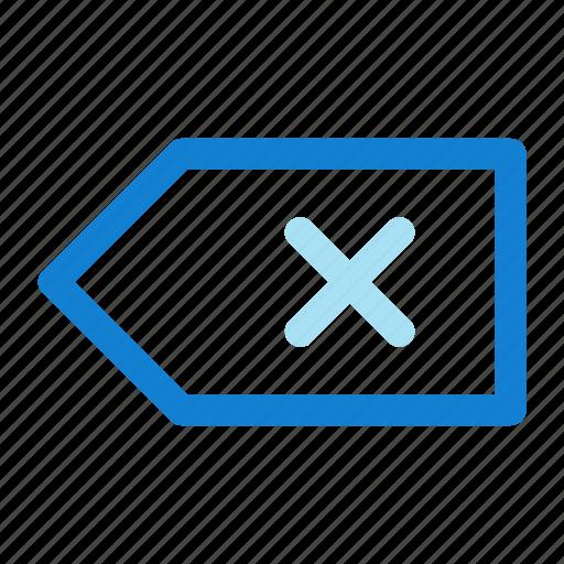 backspace, key icon icon