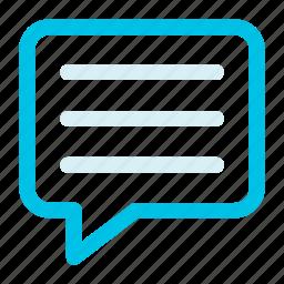 bubble, comment, text icon icon