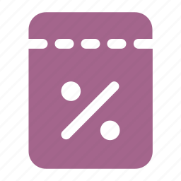cut, discount, percent, price, sale, tag icon icon