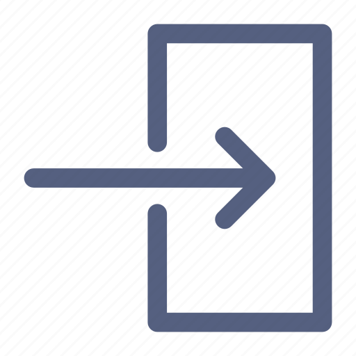 arrival, check, enter, in, log, login, sign icon icon