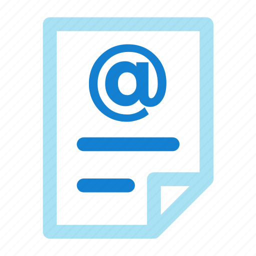 documen, email, file, mail, paper icon icon