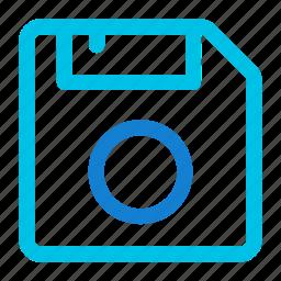 disk, diskette, floppy, floppy disk icon icon