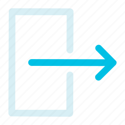 exit, interface, logout icon icon