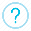 faq, help, question icon icon
