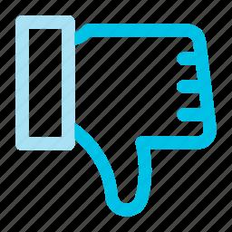 dislike, down, thumbs icon icon
