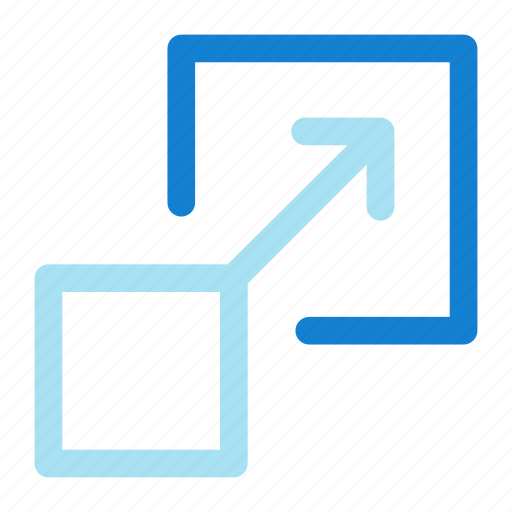design, full screen, graphics, resize icon icon