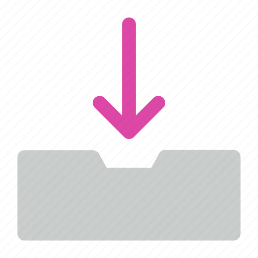 arrow, down, download icon icon