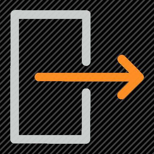 exit, interface, logout icon icon