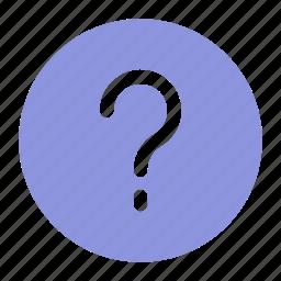 faq, help, question icon icon