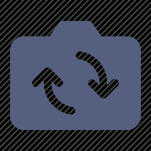 camera, camera icon, circle arrow, loading icon