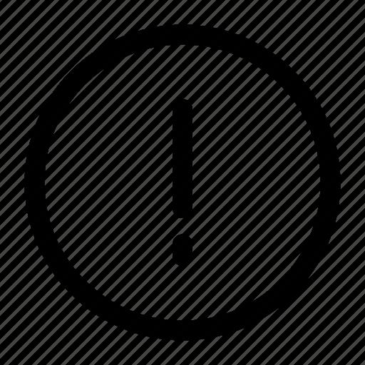 alert, attention, error icon icon