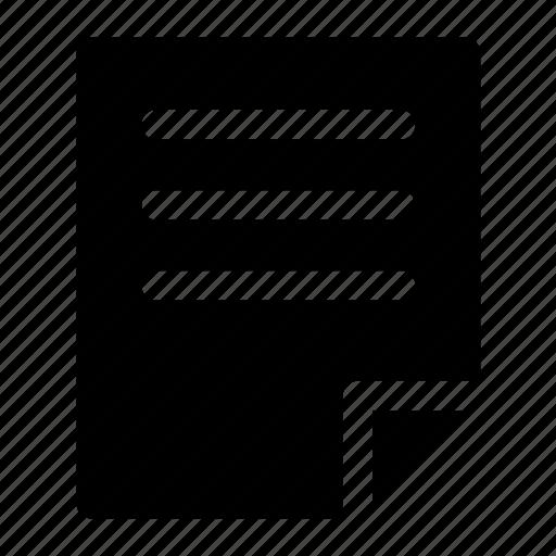document, file, paper icon icon