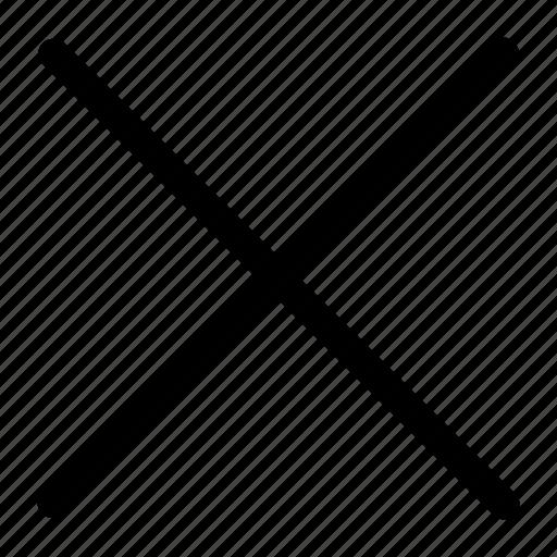 close, cross, line icon icon
