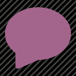 bubble, chat, comment icon icon