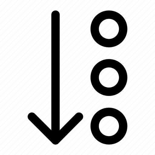 arrow, dots, down, interface, more icon icon