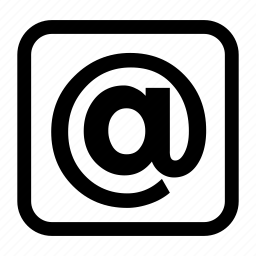 address, at, browser, email, internet, web icon icon