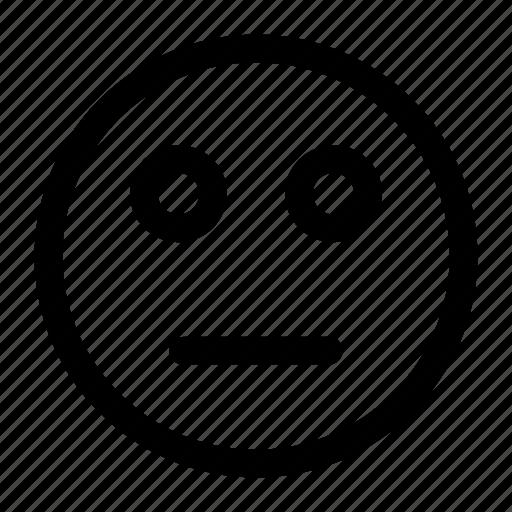 emoji, emoticon, reactionless icon icon