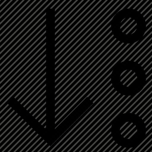 arrow, bottom, direction, down, pointer icon