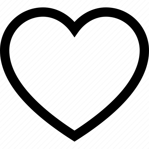 favorite, heart, like, love, outline, romance, romantic icon