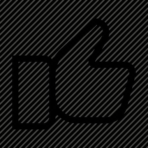feedback, like, positive, rating, social, thumb, up icon