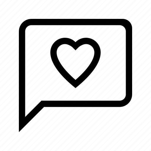 comment, feedback, heart, rating, satisfaction icon