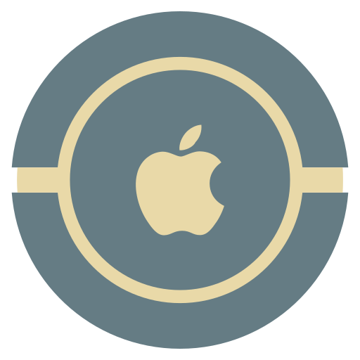 apple, media, social, vintage icon